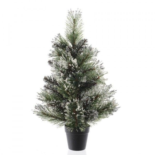 Sapin artificiel de table Finley H60 cm Vert enneigé