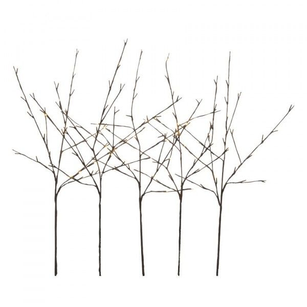 Lot de 5 branches lumineuses Abigail (120 LED) Blanc chaud
