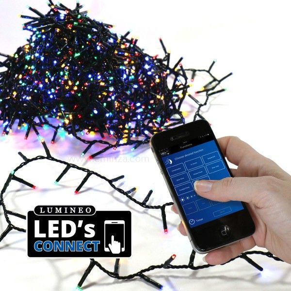 Guirlande lumineuse Luxe Bluetooth 11 m Multicouleur 500 LED