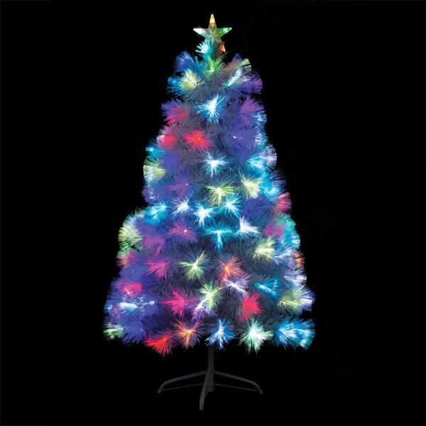 Sapin de Noël en fibre optique Bouquet H90 cm