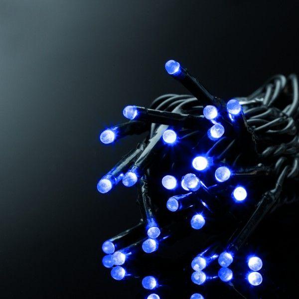 guirlande lumineuse 50 m bleu 500 led cn guirlande lumineuse pour sapin et maison eminza. Black Bedroom Furniture Sets. Home Design Ideas