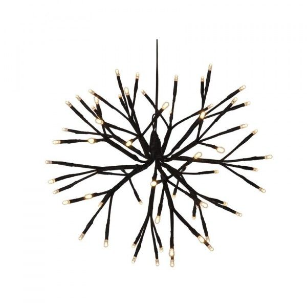 Boule de branches lumineuses Wood (64 LED) Blanc chaud