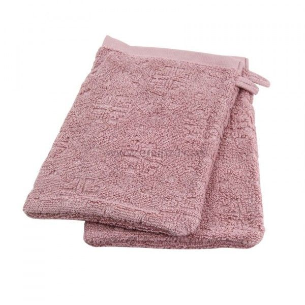 Lot de 2 gants de toilette Cisele Rose