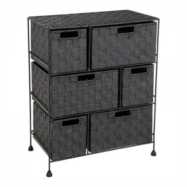 meuble rangement 6 paniers anthracite meuble bas et haut. Black Bedroom Furniture Sets. Home Design Ideas