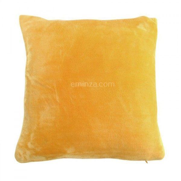 housse de coussin 40 cm doudou jaune coussin et housse de coussin eminza. Black Bedroom Furniture Sets. Home Design Ideas