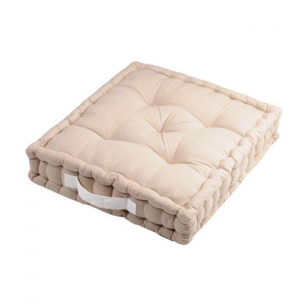 coussin de sol et pouf ecru coussin et galette eminza. Black Bedroom Furniture Sets. Home Design Ideas