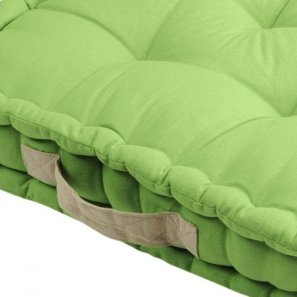 coussin de sol 45 cm duo vert coussin de sol et pouf eminza. Black Bedroom Furniture Sets. Home Design Ideas