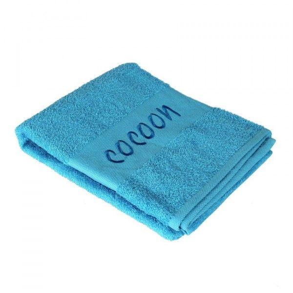 serviette de bain 90 x 150 cm brod s cocoon turquoise serviette de bain eminza. Black Bedroom Furniture Sets. Home Design Ideas