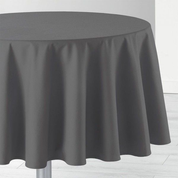 nappe ronde d 170 cm id ale gris anthracite linge de table eminza. Black Bedroom Furniture Sets. Home Design Ideas
