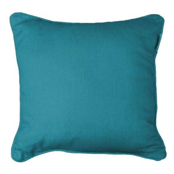 housse de coussin panama bleu d co textile eminza. Black Bedroom Furniture Sets. Home Design Ideas