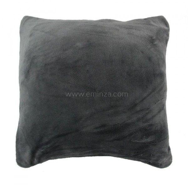 housse de coussin dotti gris coussin et housse de coussin eminza. Black Bedroom Furniture Sets. Home Design Ideas