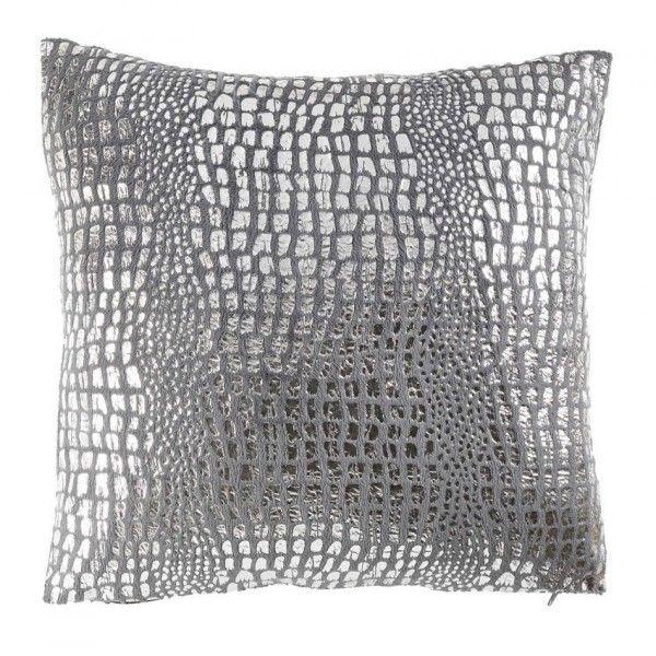 housse de coussin su de velours gris et argent coussin. Black Bedroom Furniture Sets. Home Design Ideas