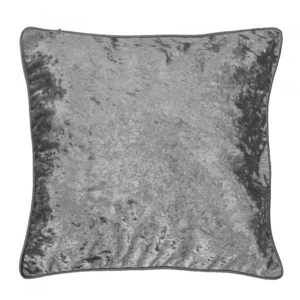housse de coussin velours gris coussin et housse de coussin eminza. Black Bedroom Furniture Sets. Home Design Ideas