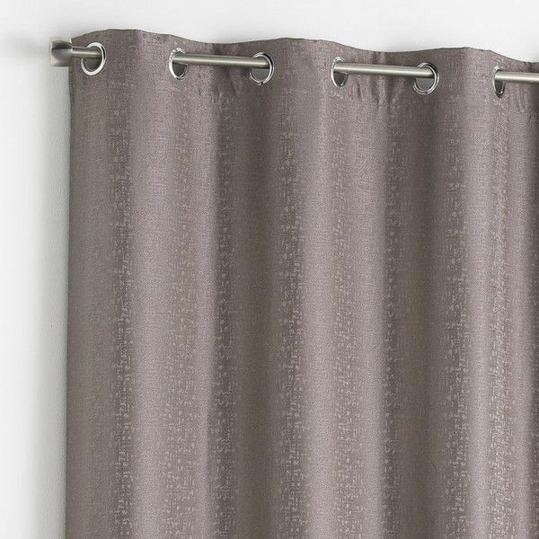 rideau 140 x h260 cm adamo taupe rideau tamisant eminza. Black Bedroom Furniture Sets. Home Design Ideas