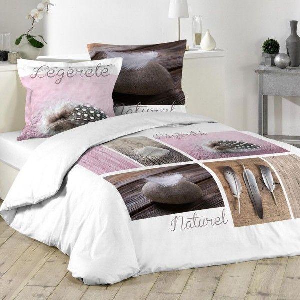 housse de couette et deux taies 240 cm plume l g re rose. Black Bedroom Furniture Sets. Home Design Ideas