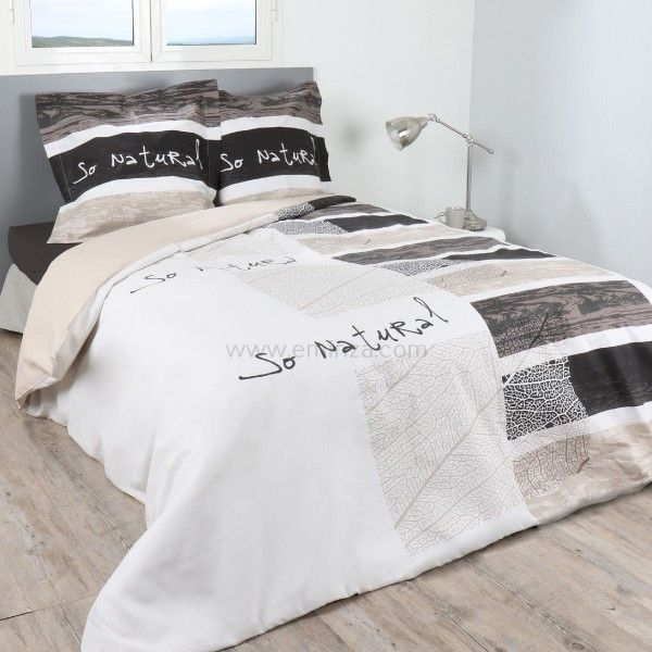 housse de couette et deux taies 260 cm cabana linge de. Black Bedroom Furniture Sets. Home Design Ideas