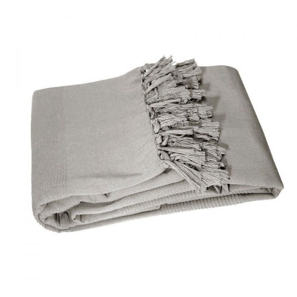 jet de canap 220 cm lana gris d co textile eminza. Black Bedroom Furniture Sets. Home Design Ideas