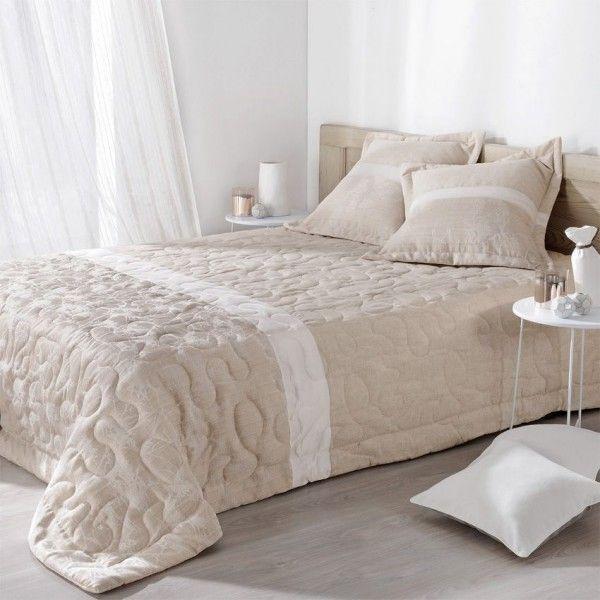 boutis et taies d 39 oreiller 230 x 250 cm capri ecru. Black Bedroom Furniture Sets. Home Design Ideas