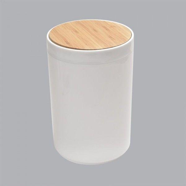 Salle de bain gobelet porte savon miroir poubelle for Poubelle de salle de bain bambou