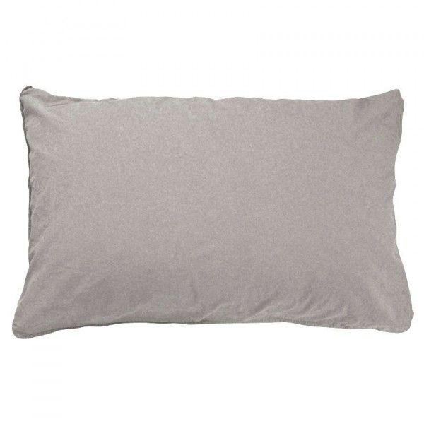 taie d 39 oreiller traversin taupe linge de lit eminza. Black Bedroom Furniture Sets. Home Design Ideas
