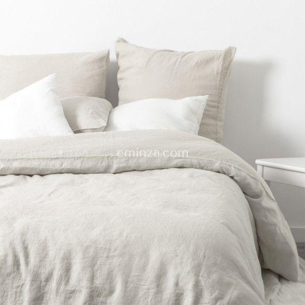 linge de lit lin lav eminza. Black Bedroom Furniture Sets. Home Design Ideas