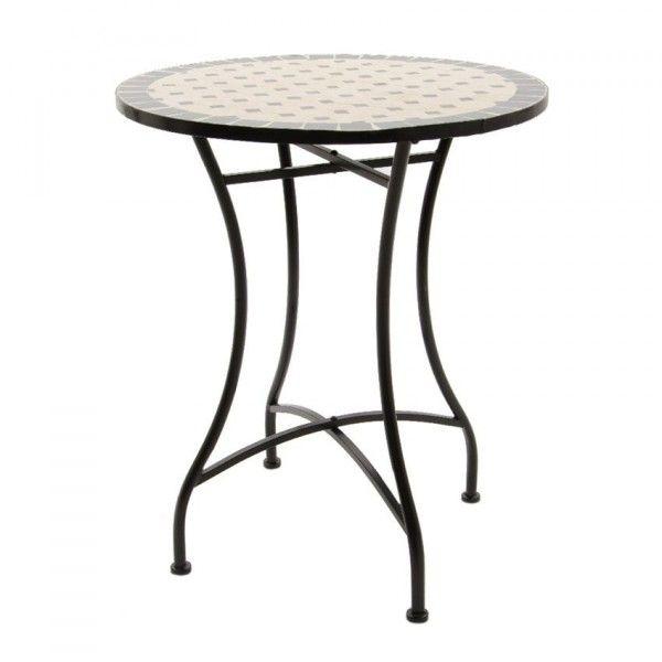 Table de jardin Mosaïque Philippine - Ecru - Salon de jardin, table ...