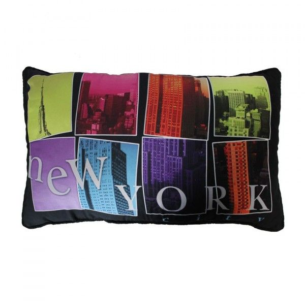 Coussin rectangulaire microfibre New City Multicouleur