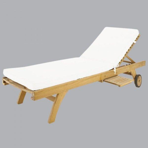 coussin bain de soleil sunny ecru textile d 39 ext rieur eminza. Black Bedroom Furniture Sets. Home Design Ideas