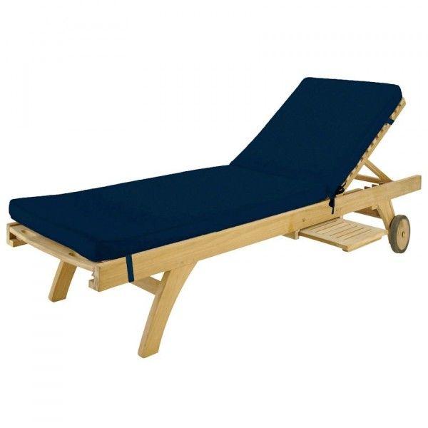 coussin bain de soleil sunny bleu marine textile d 39 ext rieur eminza