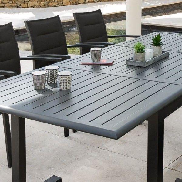 Table de jardin extensible Aluminium Azua (240 x 100 cm