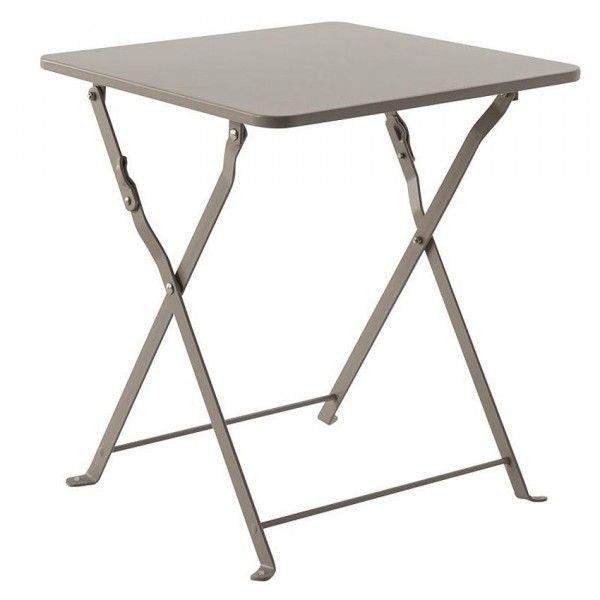 table d 39 appoint pliante nindiri taupe meuble d 39 appoint eminza. Black Bedroom Furniture Sets. Home Design Ideas