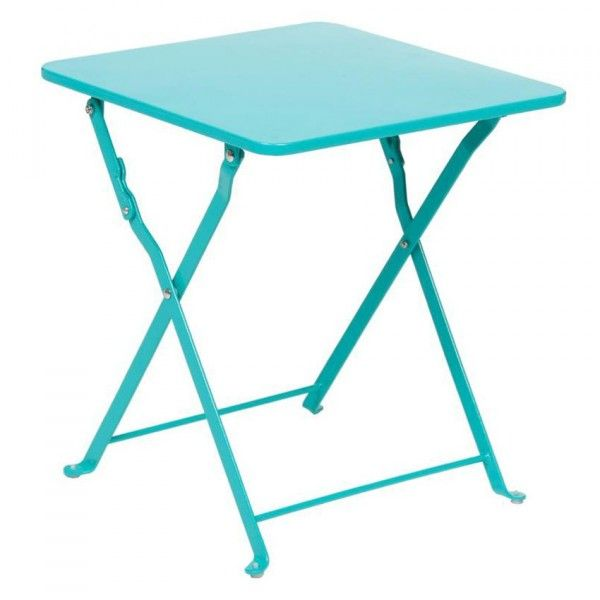 Table d'appoint pliante Nindiri - Bleu lagon