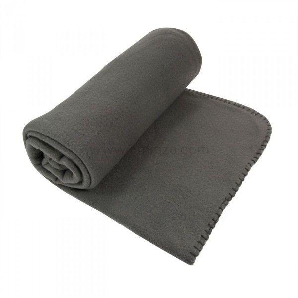 plaid polaire douillet gris anthracite d co textile eminza. Black Bedroom Furniture Sets. Home Design Ideas