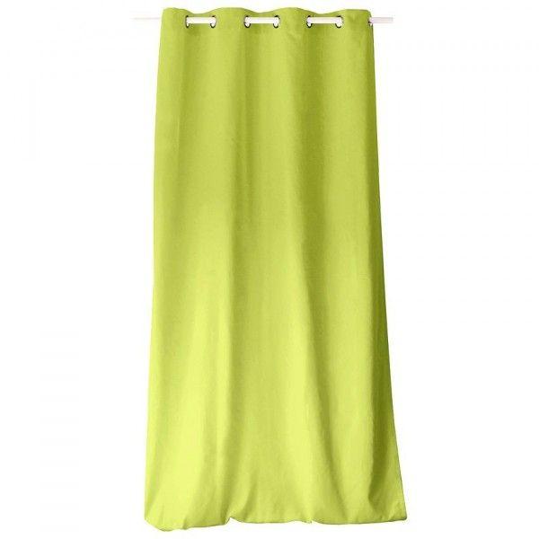 rideau tamisant 145 cm x h 240 etna vert anis rideau voilage store eminza. Black Bedroom Furniture Sets. Home Design Ideas