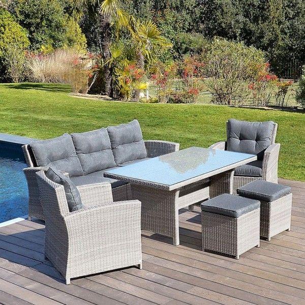 Table haute de jardin Panama - Gris