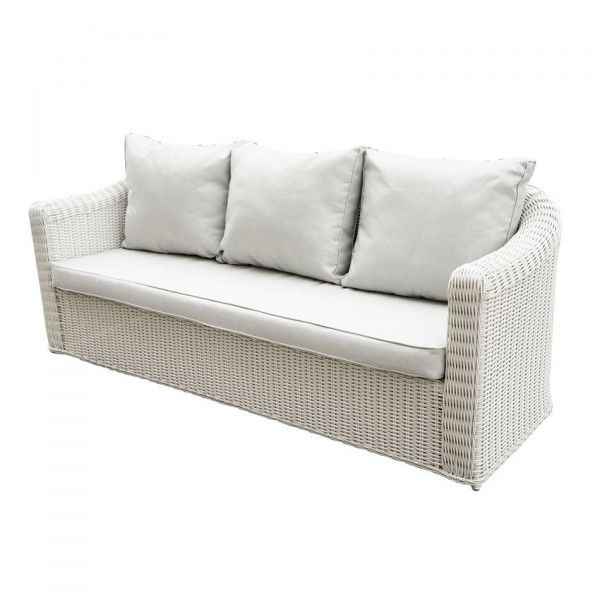 canap de jardin 3 places capri blanc perle salon de. Black Bedroom Furniture Sets. Home Design Ideas