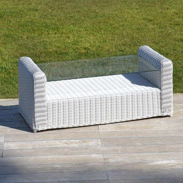 Table basse de jardin Capri - Blanc