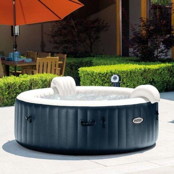 spa bulles plus 4 personnes bleu nuit intex spa et accessoires eminza. Black Bedroom Furniture Sets. Home Design Ideas