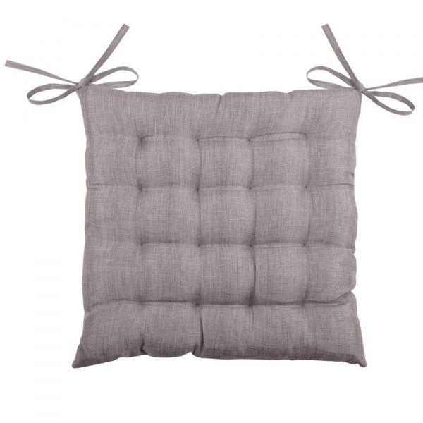 galette et coussin de chaise taupe coussin et galette eminza. Black Bedroom Furniture Sets. Home Design Ideas