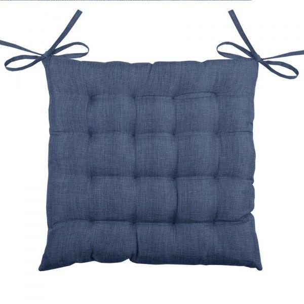 galette et coussin de chaise bleu coussin et galette. Black Bedroom Furniture Sets. Home Design Ideas