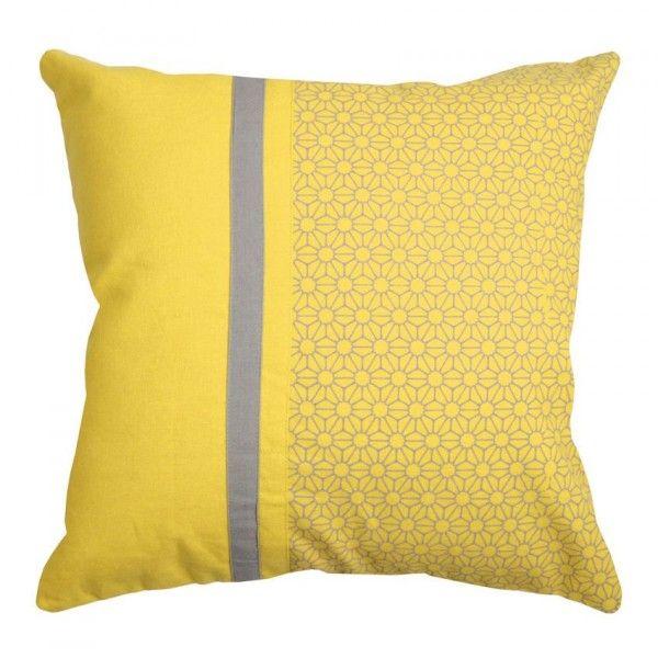 coussin et galette jaune eminza. Black Bedroom Furniture Sets. Home Design Ideas