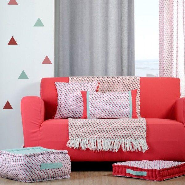 jet de canap 170 cm isoc le rouge plaid et jet s eminza. Black Bedroom Furniture Sets. Home Design Ideas