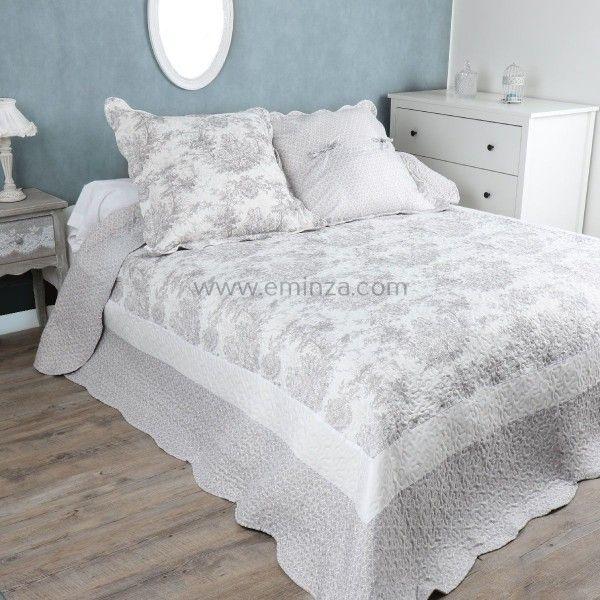 couvre lit boutis pour 2 personnes linge de lit eminza. Black Bedroom Furniture Sets. Home Design Ideas