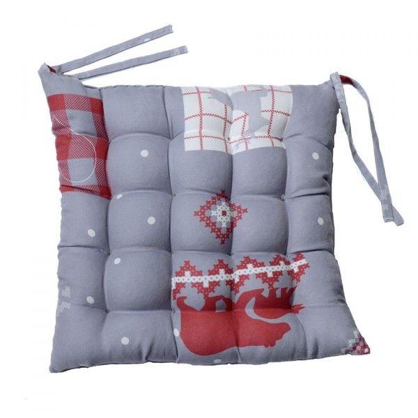 galette et coussin de chaise gris coussin et galette eminza. Black Bedroom Furniture Sets. Home Design Ideas