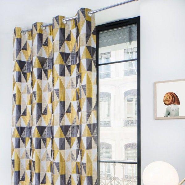rideau tamisant jaune rideau et voilage eminza. Black Bedroom Furniture Sets. Home Design Ideas