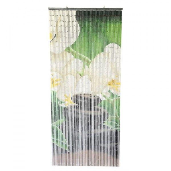 Rideau de porte vert rideau et voilage eminza - Rideau de porte isolant ...