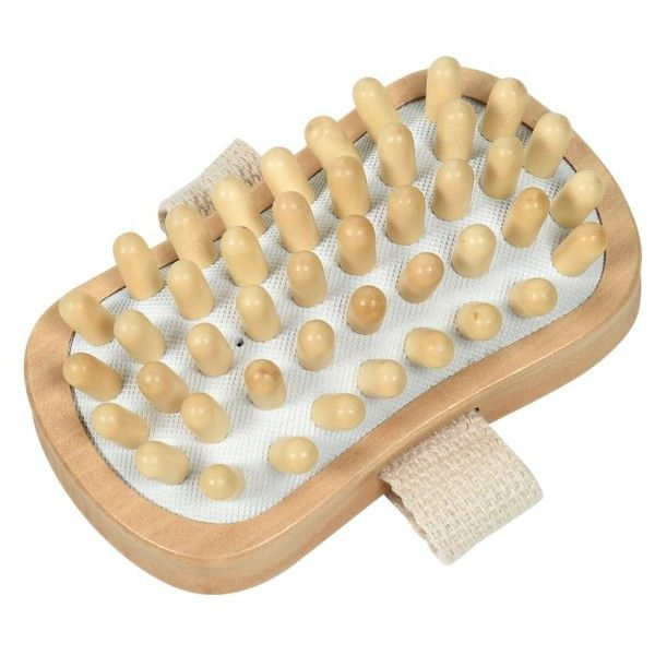 Brosse de massage corps rectangulaire Naturel