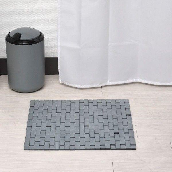 tapis de bain caillebotis bambou gris tapis eminza. Black Bedroom Furniture Sets. Home Design Ideas