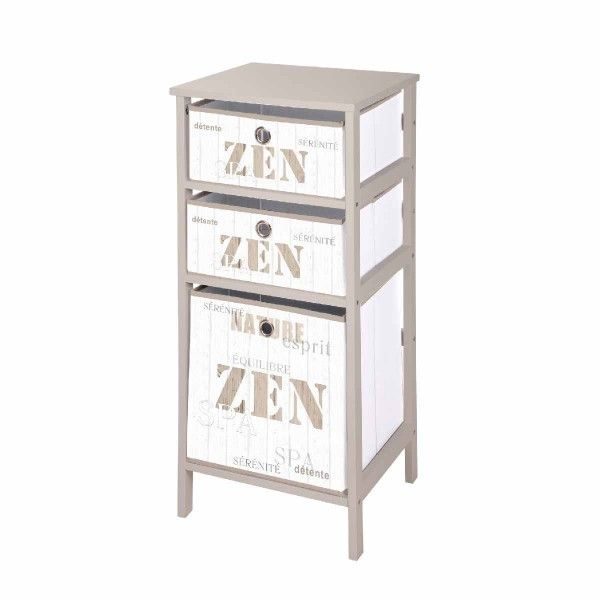 Meuble 3 paniers Zen Wood