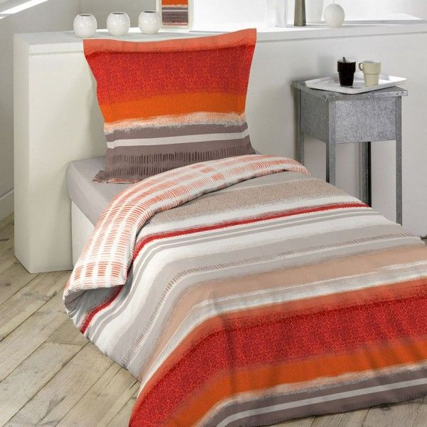 Linge de lit orange eminza - Housse de couette orange ...